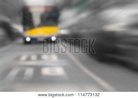 Bus - public transportation.