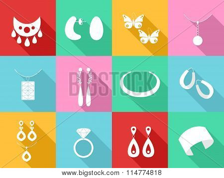 Jewelry  Flat Design