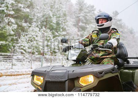 The border guard on ATV