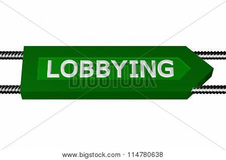 Word Lobbying Written On The Arrow