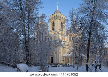 Trinity Cathedral of the Alexander Nevsky Lavra. St. Petersburg. Russia.