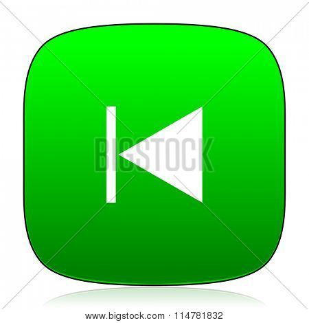 prev green icon for web and mobile app