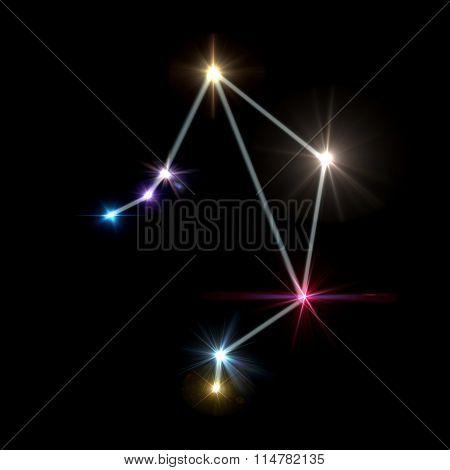 Libra Horoscopes With Black Background