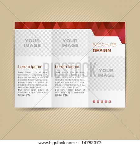Vector template for leaflet