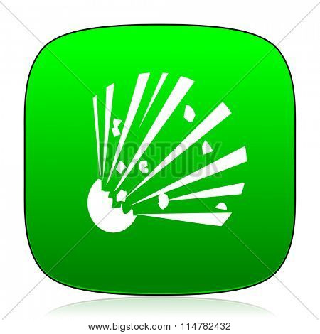 bomb green icon for web and mobile app