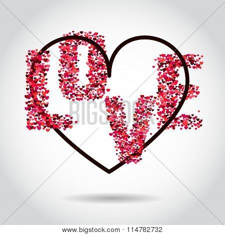 VAlentine Hearts Background 1