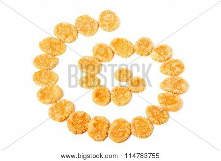 Corn Flakes In The Form Of A Spiral.