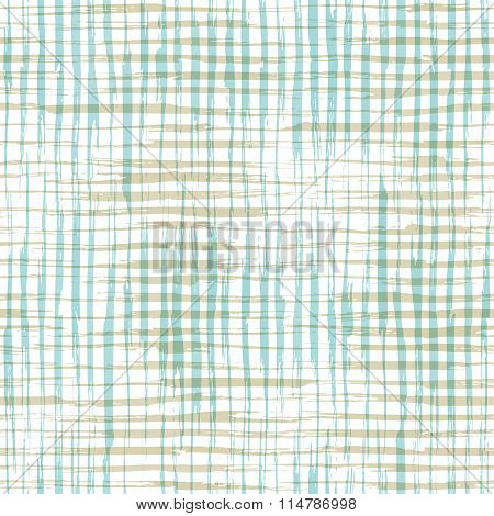 Vector Seamless Pattern Of Checkered Brush Strokes.