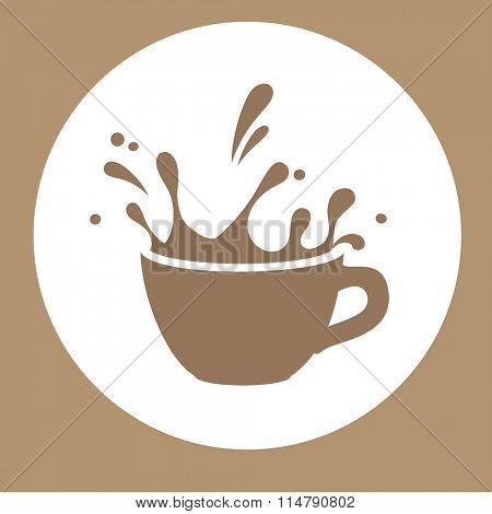 splashins coffee cup vector sign