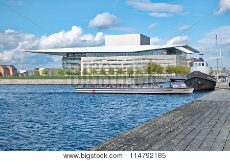 Copenhagen, Denmark - September 18: The Copenhagen Opera House, Designed By Henning Larsen On Septem