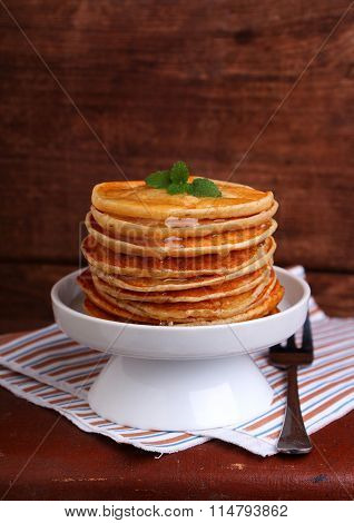 Making Pancakes On Shrove Tuesday In A White Bowl