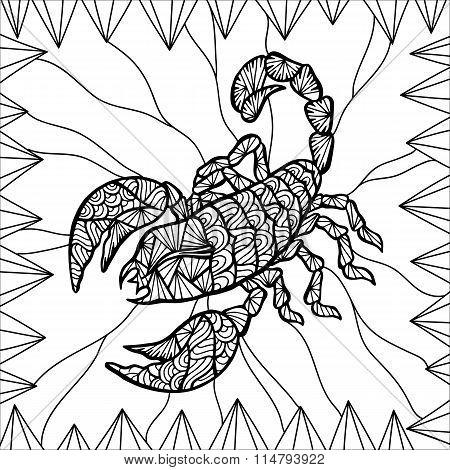 Stylized vector Scorpion