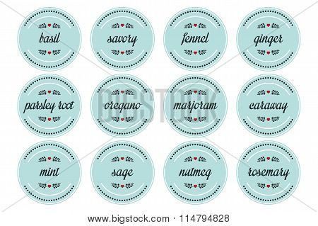 Round Spice Labels
