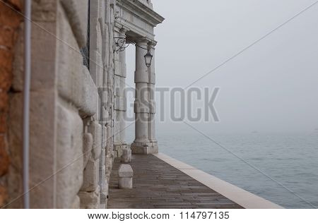 Fog View On San Marco Gulf In Venice, Italy