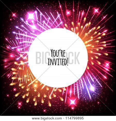 Universal invitation card template design.