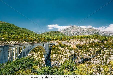 Artuby bridge over the Verdon Gorge in France.