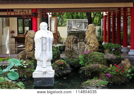 Bangkok - December 21: Chinese Garden Style In Thai-chinese Cultural Center At December 21, 2015 In
