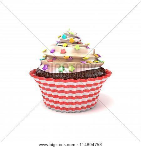 Cupcake. 3D render