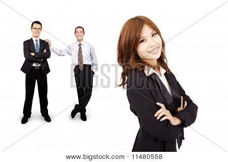 Smiling and confident Asian business woman