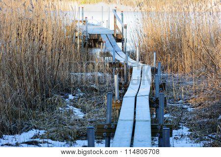 Footbridge To Pier