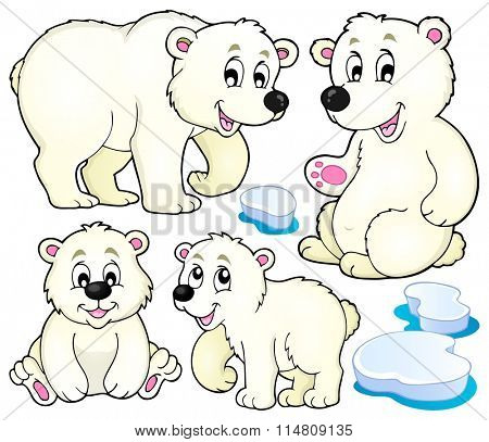 Polar bears theme collection 1 - eps10 vector illustration.
