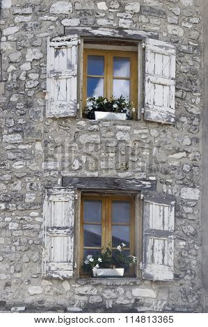 Windows And Shutters At Sault