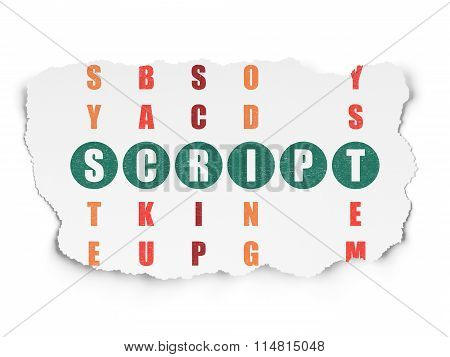 Software concept: Script in Crossword Puzzle