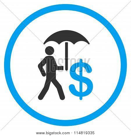 Banker Umbrella Protection Icon