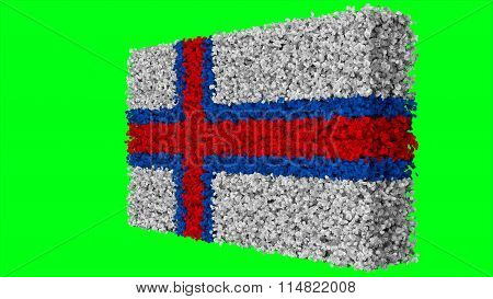 Flag of the Faroe Islands, Faroese flag made from leaves