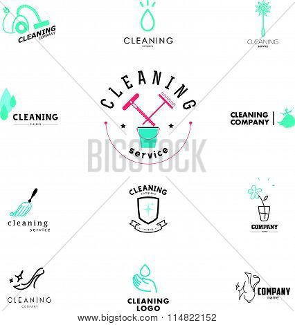 Vector collection of flat logo
