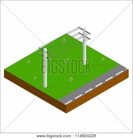 Support Power Lines Isometric