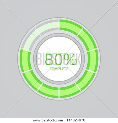 Progress Loading Bar. Flat Style Vector