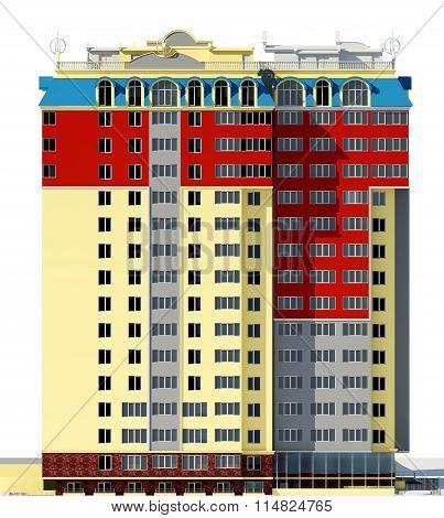 Residential Building 3D Render