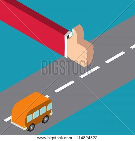 Hitchhiking Vector