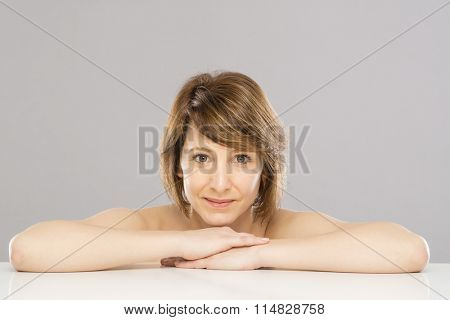 Brunette beauty face