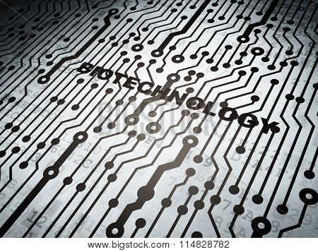 Science concept: circuit board with Biotechnology
