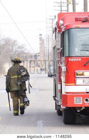 Fireman Walking