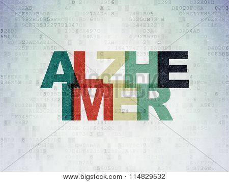 Medicine concept: Alzheimer on Digital Paper background
