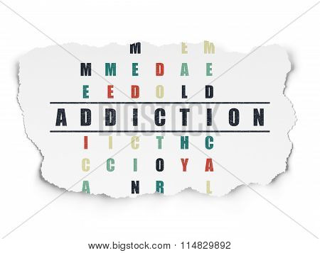 Health concept: Addiction in Crossword Puzzle