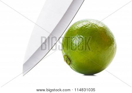 Knife And Lime.
