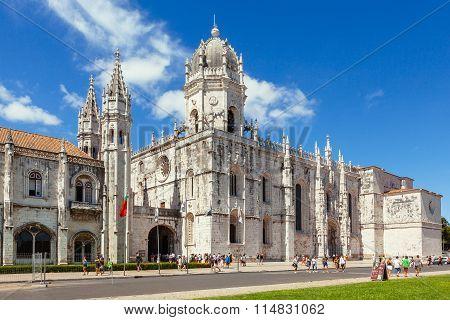 Church Of Santa Maria Of Belem In Lisbon