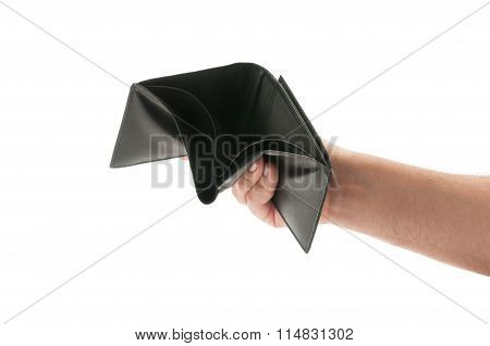 Hand Showing An Empty Wallet.
