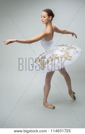 Ballerina in the studio
