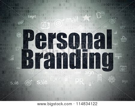 Advertising concept: Personal Branding on Digital Paper background