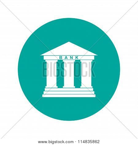 Bank Icon.  Modern Design Flat Style Icon