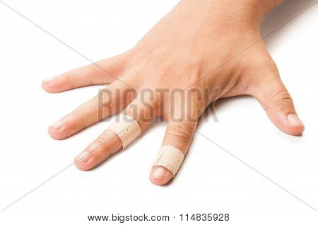 Wounded Hand On White Background.