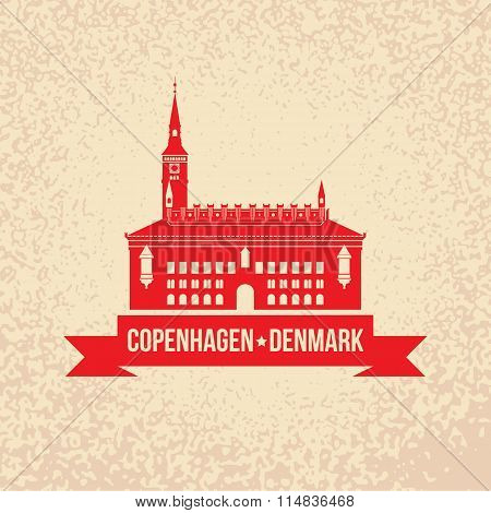 City hall. The symbol of Copenhagen, Denmark.