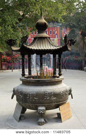 Incense Burner At Buddhist Temple