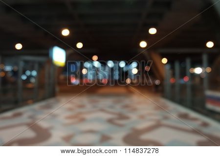 blur background of airport platform
