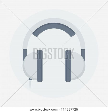 Headphones vector flat illustration